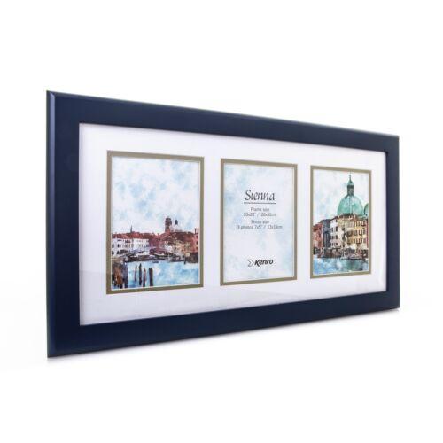 """Moderne Gris ou Bleu Cadre pour 3 Photos 6x4/""""//15x10cm idéal pour les Mères Jour Cadeau"""