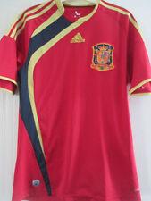Spain 2009-2010 Home Football Shirt Size Small //38081