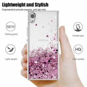 For-Sony-Xperia-1-10-Plus-L3-Shiny-Moving-Quicksand-Liquid-ShockProof-Soft-Case