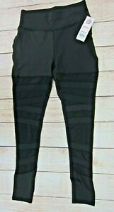 POP-FIT-Women-039-s-Athletic-Workout-Leggings-with-Pockets-2232-10-Black-NWT