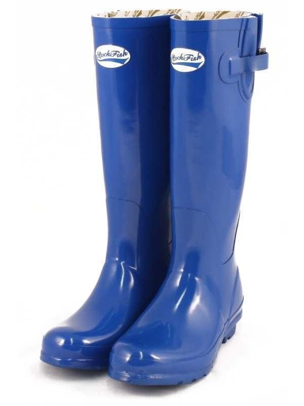 Rockfish Wellington Tall Gloss   rfwb 1031 BE bleu Femme Sz 5 - 9