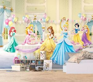 Details about Disney Princess bedroom Wallpaper Girls photo wall mural in  Giant size green