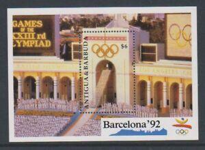 Antigua - 1991, Jeux Olympiques, Barcelone (1992) Feuille-neuf Sans Charnière-sg Ms1433-afficher Le Titre D'origine