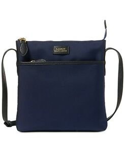 uudet alhaisemmat hinnat täysin tyylikäs tulokas Details about New Womens Lauren Ralph Lauren Navy Blue Chadwick Slim  Crossbody Purse Bag
