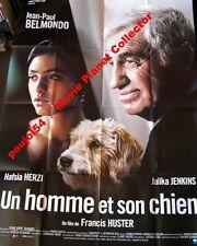 UN HOMME ET SON CHIEN - Belmondo,Huster - AFFICHE 120x160/47x63 FRENCH POSTER