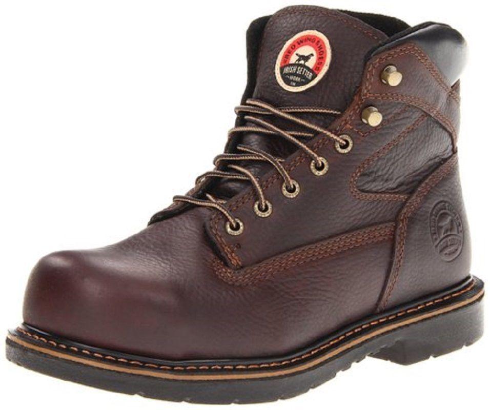 rojo Wing Irish Setter para hombre de cuero marrón de 6 pulgadas EH Puntera De Acero botas De Trabajo 83624
