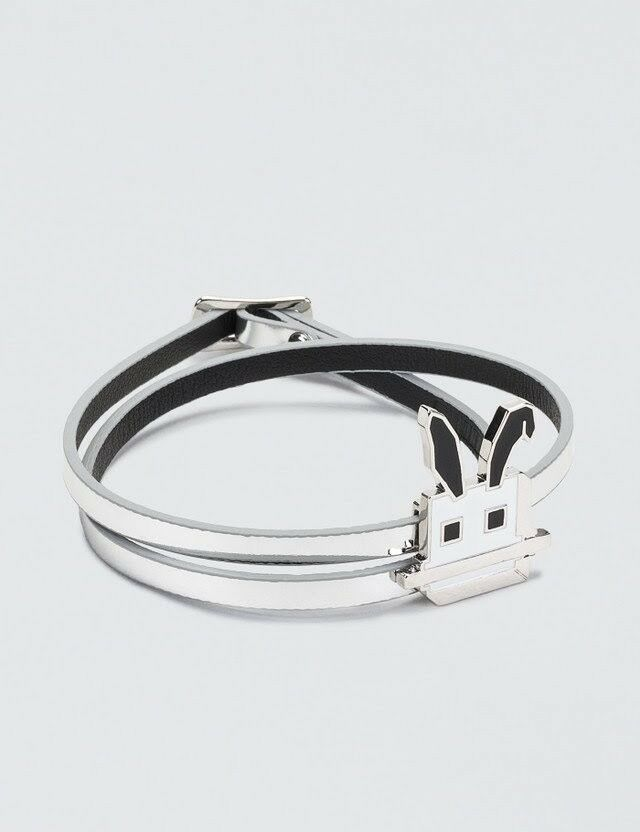 Alexander McQueen McQ Real Leather Electro Bunny Mini Bracelet NEW WITH BOX