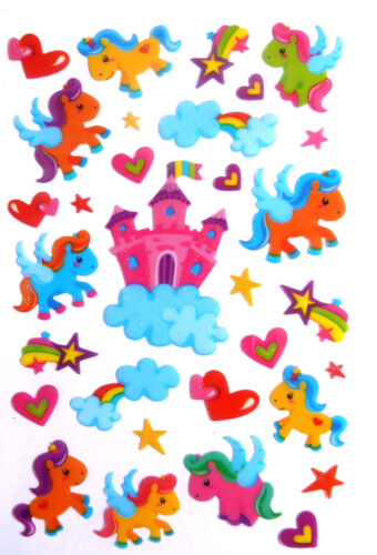 Unicorn Stickers Labels for Kids Childrens Craft /& Decoration PVC08 Little Pony