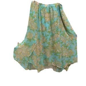 Marc-Bouwer-XL-Skirt-Hi-Lo-Hanky-Hem-Layered-Lined-Chiffon-Elastic-Waist
