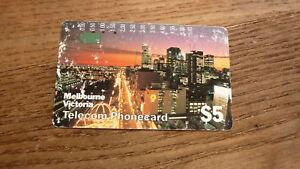OLD-AUSTRALIAN-TELECOM-PHONECARD-5-MELBOURNE-VICTORIA