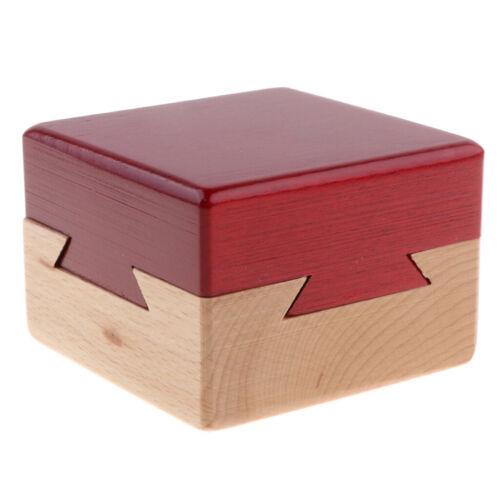 Intelligenz Denkaufgabe IQ Denkspiel Magische Box aus Holz Kongming Schloss