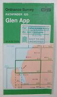 1993 old vintage OS Ordnance Survey 1:25000 Pathfinder map Glen App 525 NX 07/17
