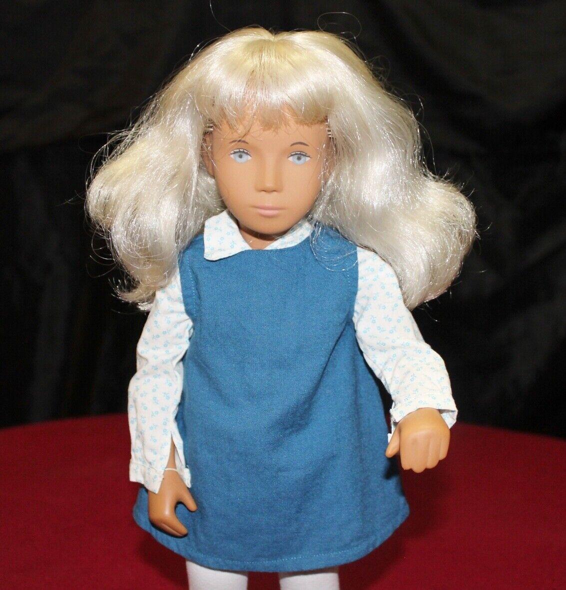 16  Vintage 115 Sasha Doll Blonde Tunic Hair,Blau Eyes,Made In England.