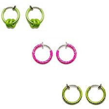 6-pack Fake Piercing Non-Piercing Belly, Ear, Nose, Lip, Cartilage Rings
