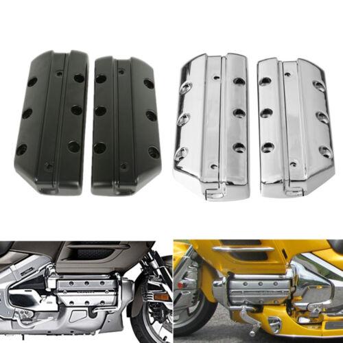 Chrome//Black Valve Cover Cylinder For Honda Goldwing 1800 GL1800 2001-2013 TCMT
