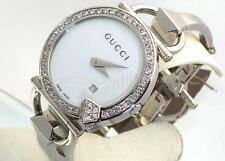 NEW LADIES GUCCI 122 CHIODO YA122501 WHITE 1ct APPROXIMATELY DIAMOND WATCH ****