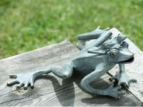 Frog Mama & Baby Garden Frogs Pool Pond Decor Metal Sculpture Statue SPI Home
