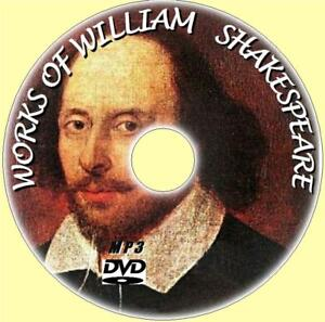 WILLIAM-SHAKESPEARE-220-MP3-AUDIO-BOOKS-NEW-MP3-PC-DVD-COMEDIES-TRAGEDIES-POEMS
