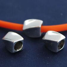 6 Perle in Metallo decorato - foro 4,2/5,2 mm - 11 x 9 mm