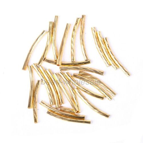 40//60//100pcs Silver Gold Copper Plated Syphon Tube Spacer Jewelry Making 20//35mm