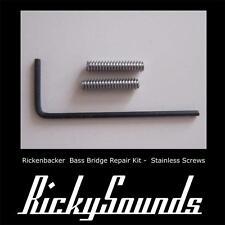 Rickenbacker Bass Bridge Height Repair Kit - Stainless Steel - NEW GENUINE PARTS