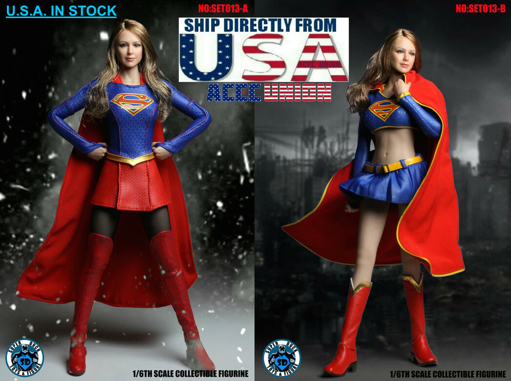 1/6 SUPERGIRL SUPERGIRL SUPERGIRL Head Sculpt + PHICEN Seamless Female Figure Clothing Full Set USA b4e575