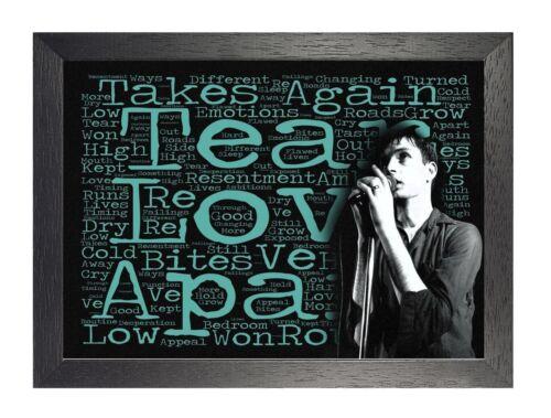 Joy Division Love Will Tear Us Apart Lyrics Poster English Music Band Curtis Ian