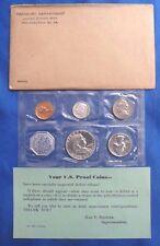 1960 1C-50C US Mint Silver Proof Set 5 Coins Original Packaging COA