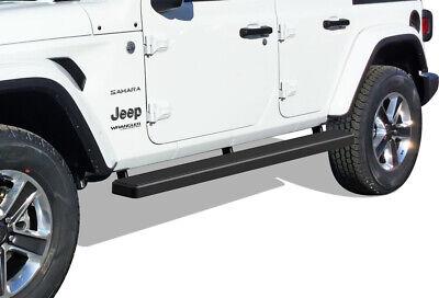 """Premium 6/"""" Black iBoard Side Steps Fit 18-20 Jeep Wrangler JL 4Dr"""