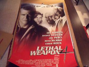 Original Movie Poster Lethal Weapon 4 1998 Ebay