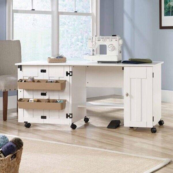 Sewing Machine Desk Craft Tools Storage Table Folding Drop Leaf Portable Cabinet For Sale Online Ebay