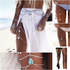Multi-layer Fashion Thigh Leg Chain Body Bikini Beach Harness Summer Jewelry New