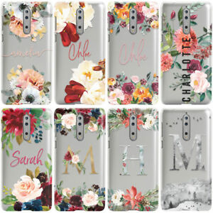 DYEFOR-PERSONALISED-FLORAL-TRANSPARENT-amp-NAME-PHONE-CASE-COVER-FOR-NOKIA