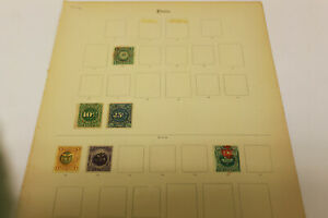 2 Peru Stamp Album Pages