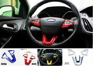 Details About Car Steering Wheel Interior Cover Trim Abs For Ford Focus 2015 2017 4 Colors