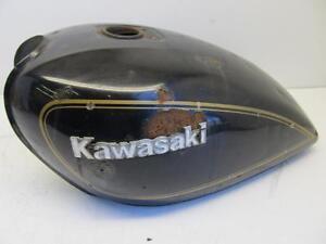 KAWASAKI-LTD-KZ400-KZ400-1974-FUEL-GAS-PETROL-TANK-DENT-DAMAGED-RUST-INSIDE-342