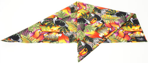 Küstenluder LAHELA Tropical Palm Leaf PARROT Toucan SUNSET BANDANA Rockabilly