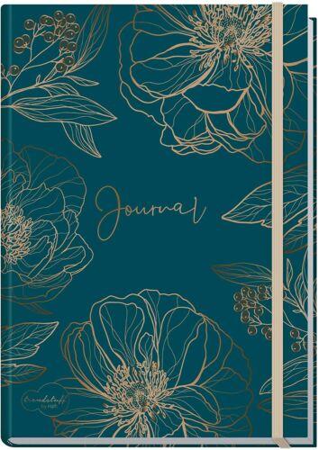 Goldblüte Bullet Journal dotted A5 mit Gummiband 156 SeitenNotizbuch gepunk