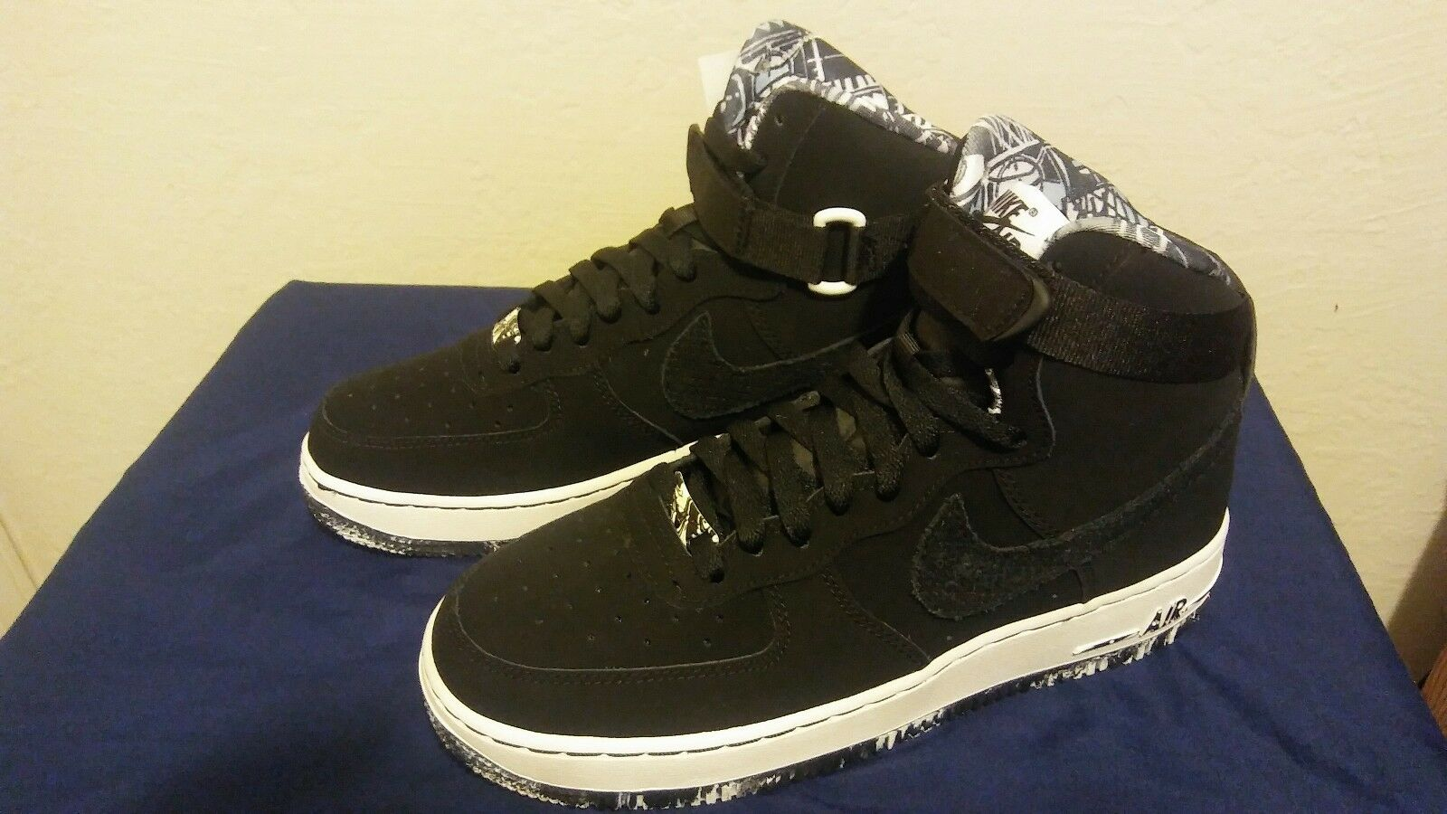 Black suede Air Force 1 size 7