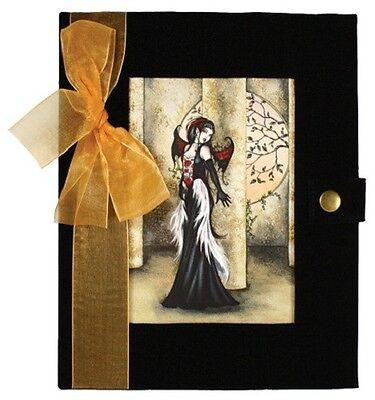 Amy Brown HIDING FROM DAYLIGHT Black Velvet Journal Diary Blank Book Vampire HTF