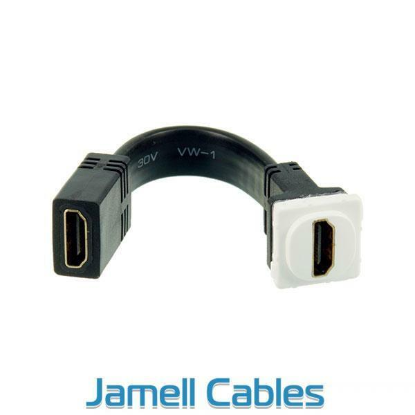 Digitek HDMI Wall Plate Insert White (with Tail) 05BC6T