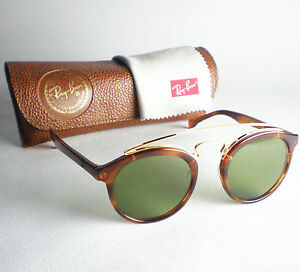 33c5b3f1c365 Vintage Ray Ban B L USA GATSBY 4 Sunglasses round tortoise wayfarer green  gold