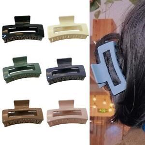 Rectangle-Hair-Claws-Plastic-Hair-Gripper-Clips-Women-Girls-Bath-Ponytail-Holder