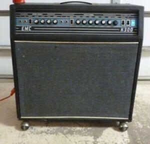 "EMC K300 Guitar Keyboard combo amp 15"" Reverb & Tremolo 1970 HEAVY"