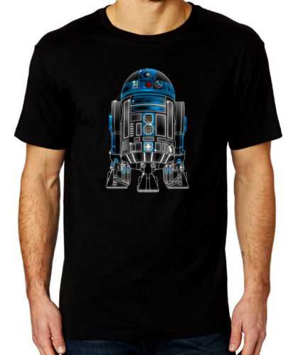 R2D2 glow effet star wars t-shirt homme noir