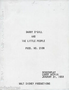 Details about DARBY O'GILL & LITTLE PEOPLE (1959) Walt Disney Prods  SCREENPLAY SCRIPT 141-page