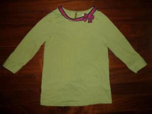 Gymboree-girls-lime-green-shirt-with-red-bow-size-8