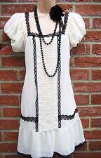 SIZE 16 VINTAGE STYLE 20'S DECO GATSBY CHARLESTON FLAPPER DRESS # US 12 EU 44