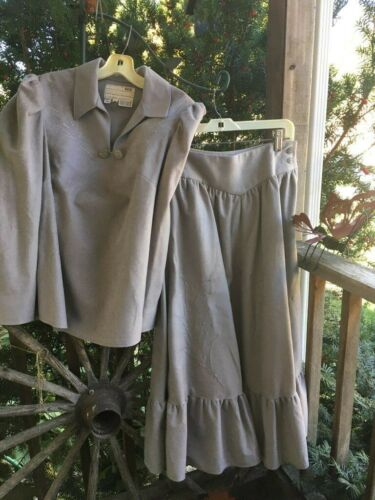 Tregos Westwear Faux Suede Skirt And Shirt Size 10
