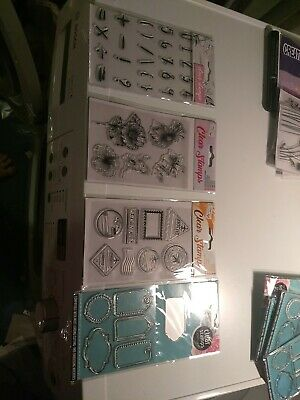 SHEET IS 15X10 NEW J430 EMBOSSING//CUT CUTTING DIE /& CLEAR STAMPS